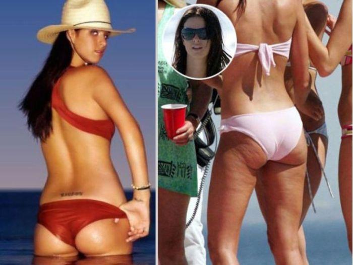 Photoshopped Celebrities vs Real Life Celebrities