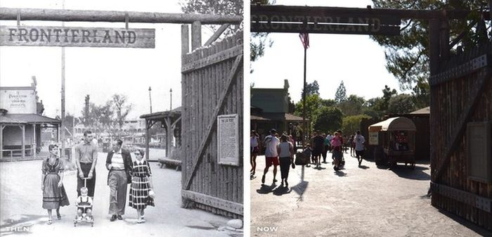 Disneyland Then and Now