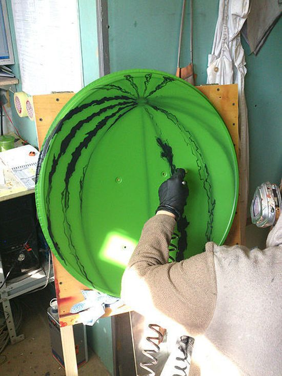How to Turn a Satellite Dish into a Watermelon