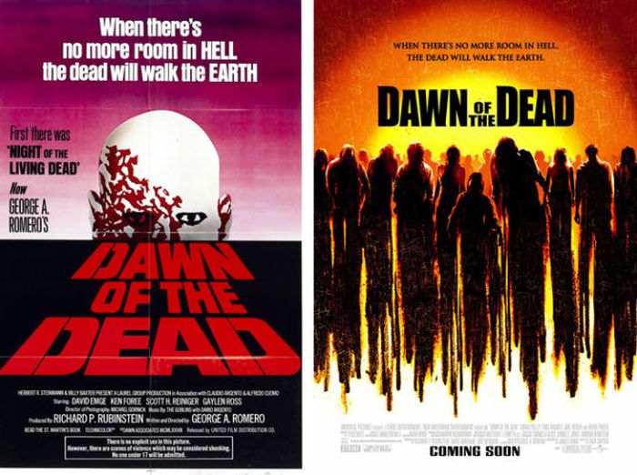 Original Horror Movie Posters Vs Their Remakes Others
