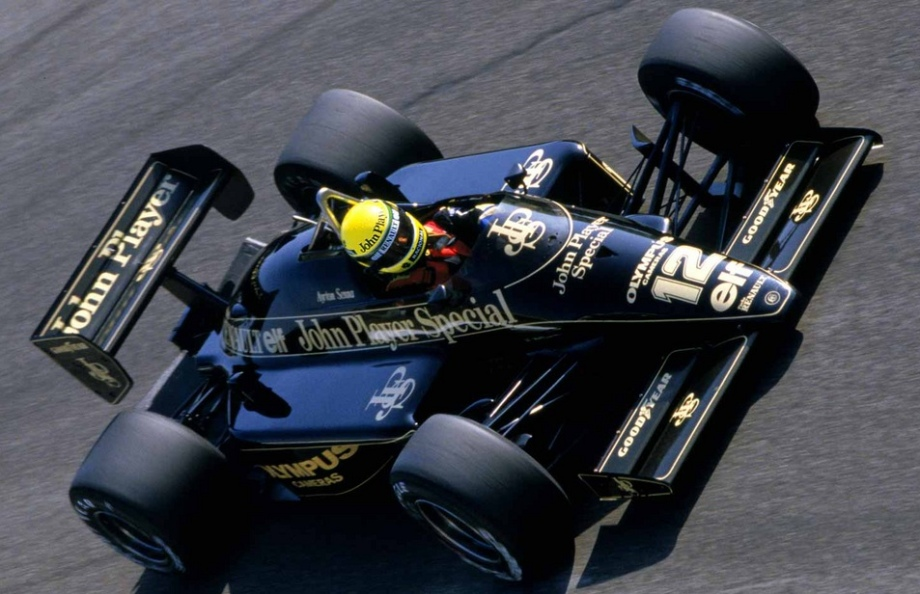 Lotus 97T Renault V6 Turbo F1 race car driven by Ayrton Senna in 1985, part 1985