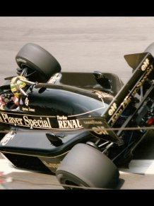 Lotus 97T Renault V6 Turbo F1 race car driven by Ayrton Senna in 1985