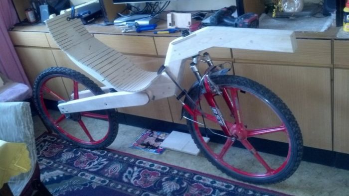 Bicycle Built Out Of Wood