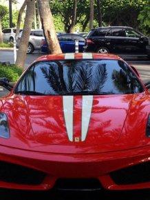 Driver Crashes His Ferrari