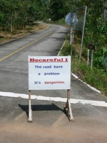 This Road Definitely Has a Problem