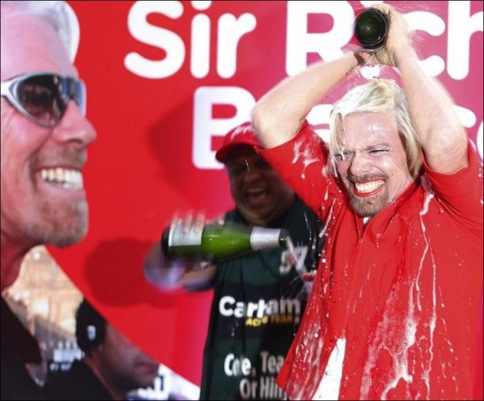 Richard Branson Turns Stewardess