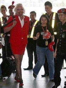 Richard Branson Turns Stewardess