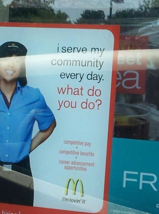 Seen at McDonald's