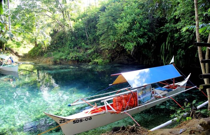 Enchanted River in Surigao del Sur, Philippines