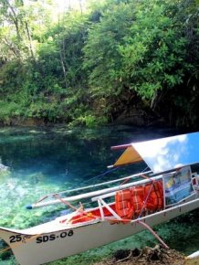 Enchanted River in Surigao del Sur, Philippines