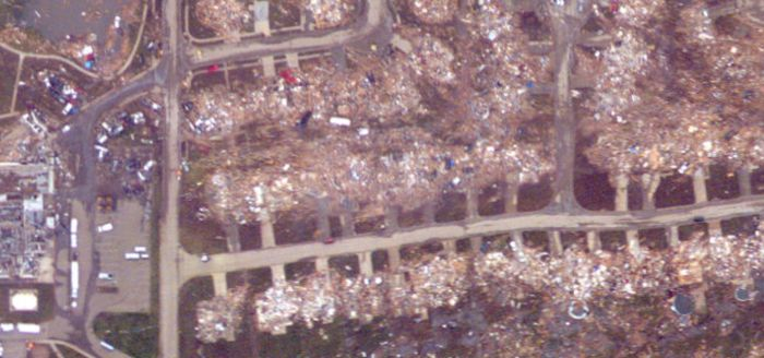 Moore Before and After Tornado