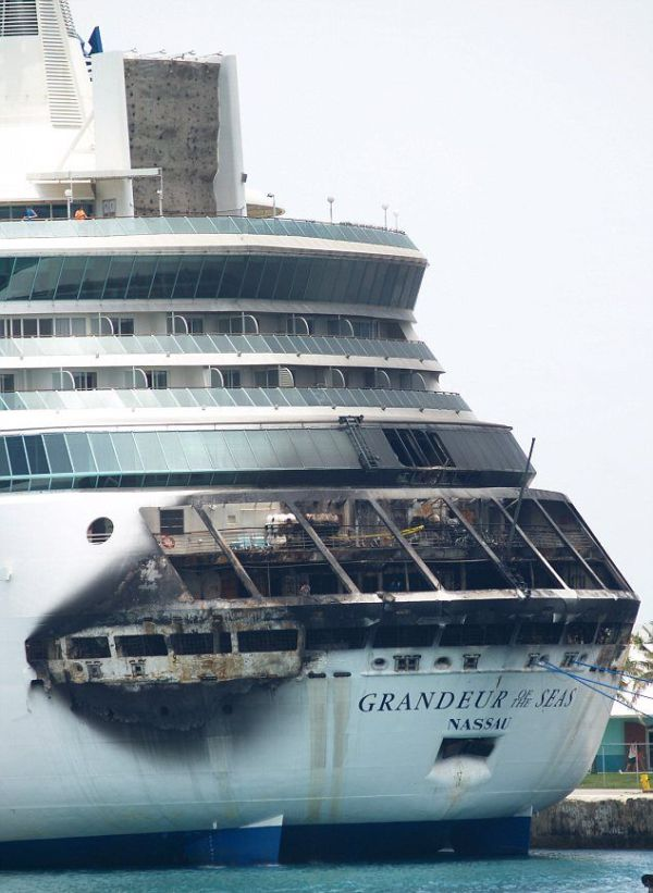 Fire on the Grandeur of the Seas