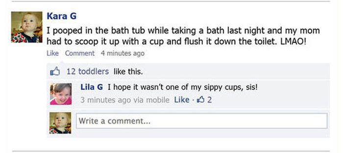 Toddlers on Facebook
