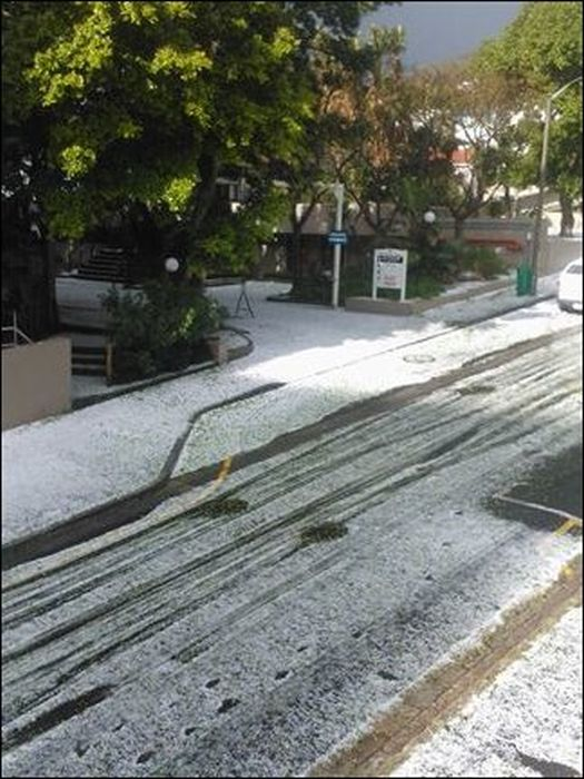 Snow in Cape Town