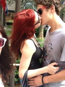 Photobombing Kissing People