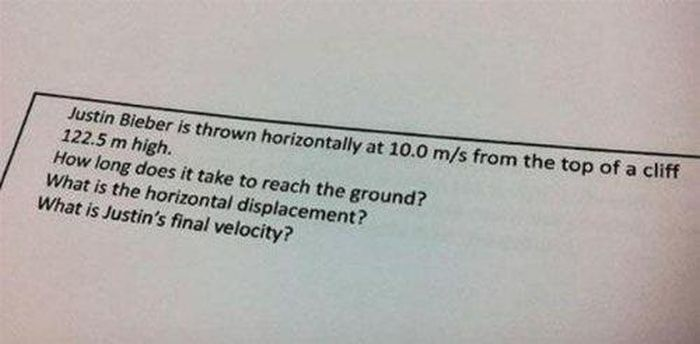 Funny Test Questions