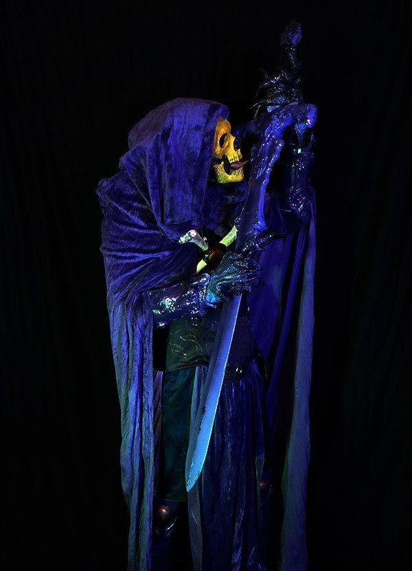 Black Light Glowing Skeletor Costume