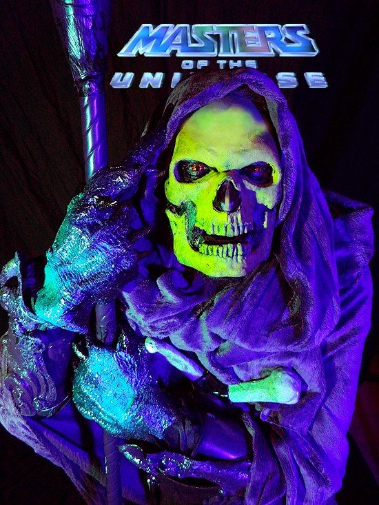 Black Light Glowing Skeletor Costume