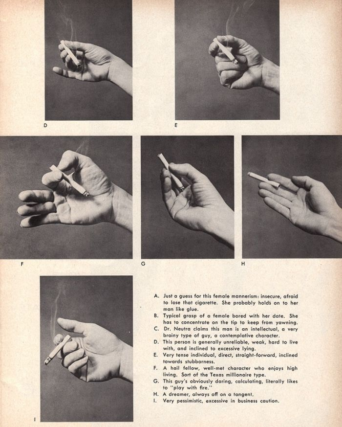 The Psychology Of Holding A Cigarette