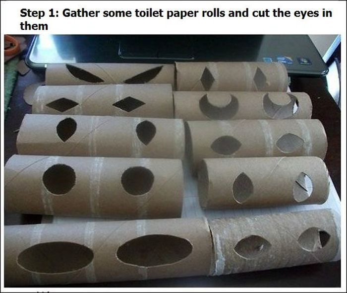 How to Scary People with Toilet Rolls