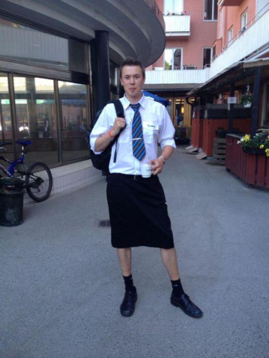 Swedish Train Drivers Wearing Skirts