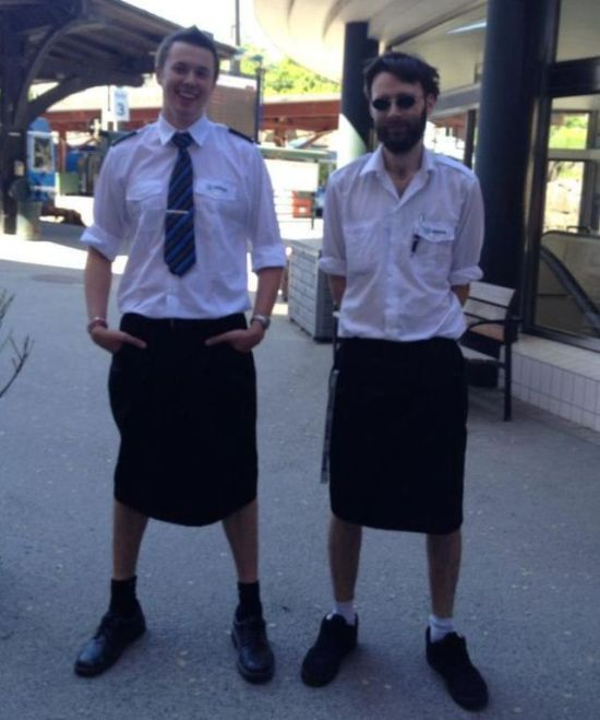 Swedish Train Drivers Wearing Skirts