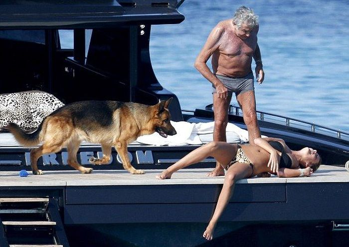 Roberto Cavalli and His Girlfriend