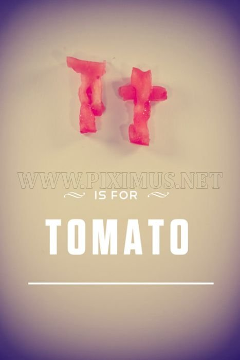 Alphabet Carved into Food