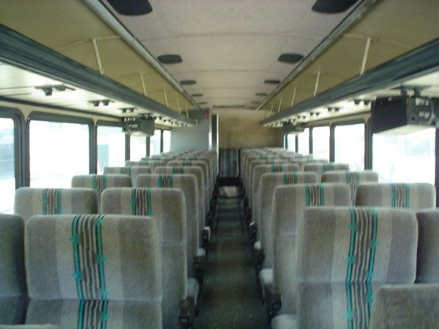 Old bus with comfortable interior