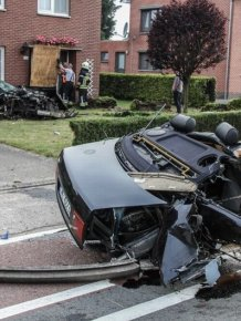 A terrible accident with Audi S8 from Belgium