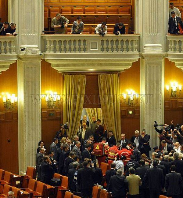 Man Jumps from Balcony of Romania's Parliament