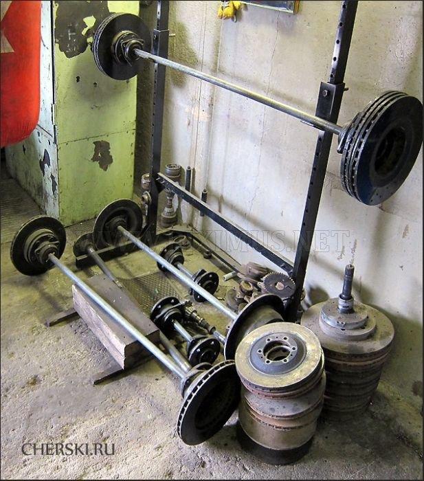 Gym Inside an Auto Body Shop