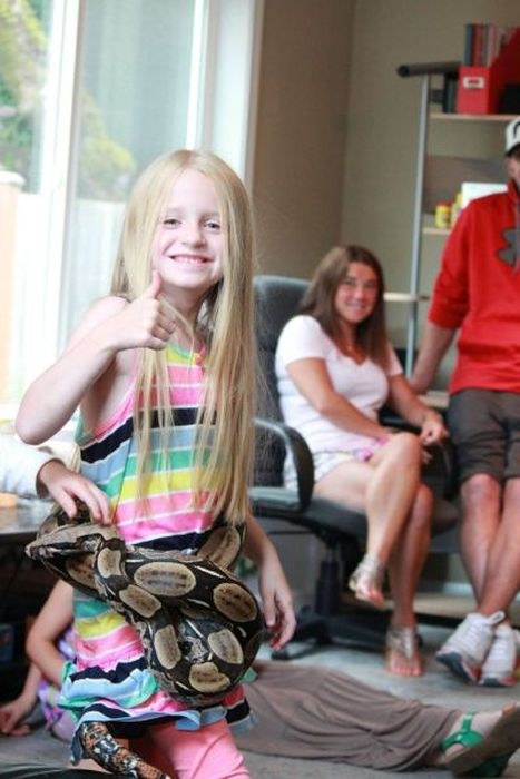 Reptiles at Children's Party