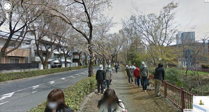 Pigeon People on Google Street View
