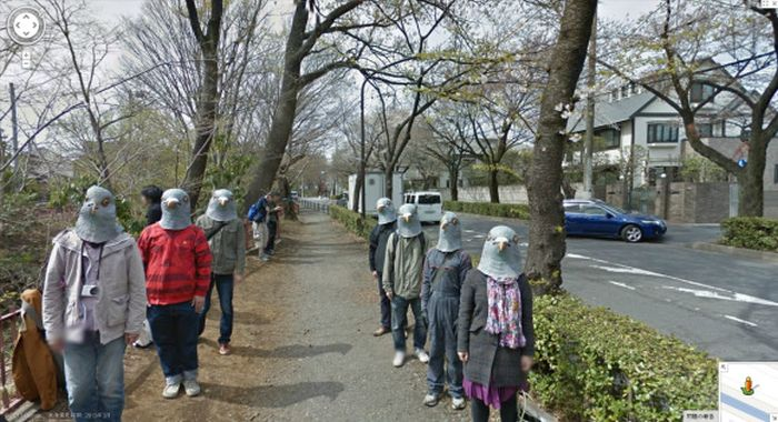 Pigeon People on Google Street View