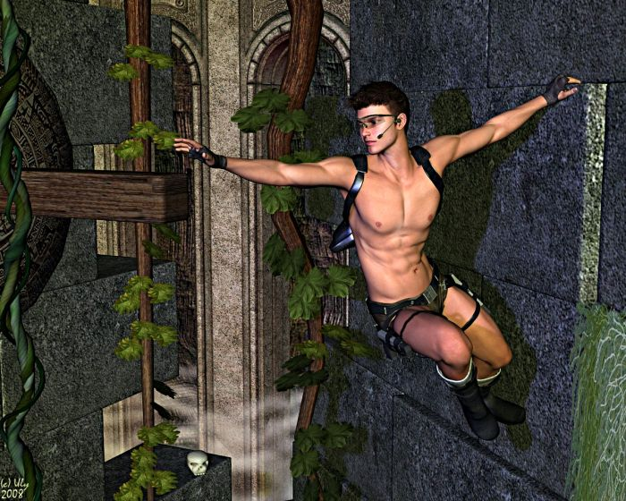 Male Lara Croft