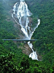 Railroad Bridge Near Dudhsagar Falls