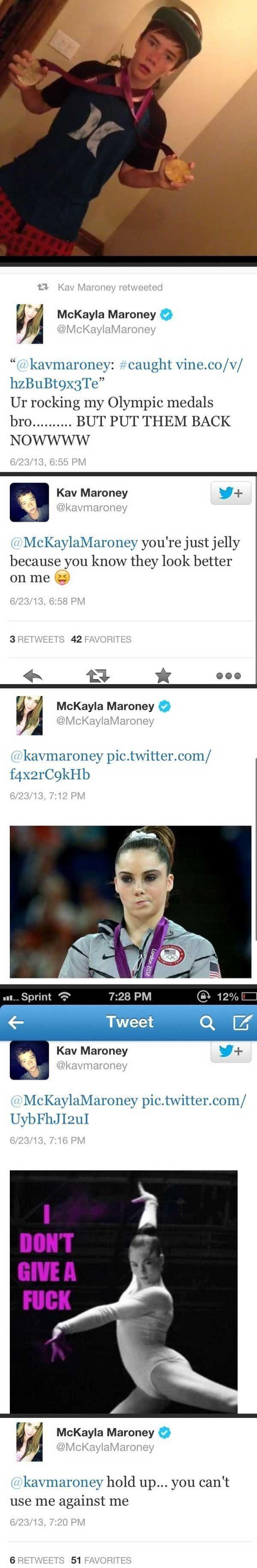 McKayla Maroney vs Her Brother