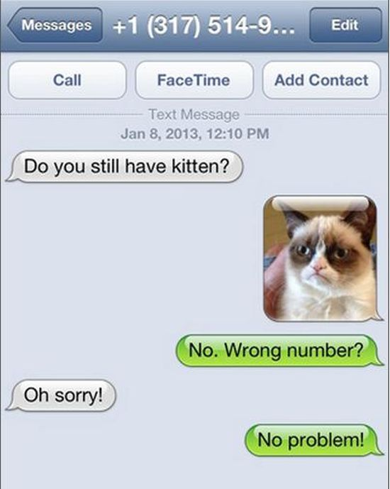Hilarious Wrong Number Texts