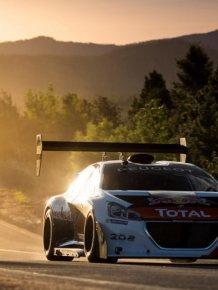 Sebastien Loeb and his Peugeot 208 set Pike Peak record time