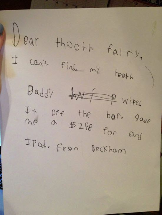 Dear tooth fairy others for Fairy letters to child