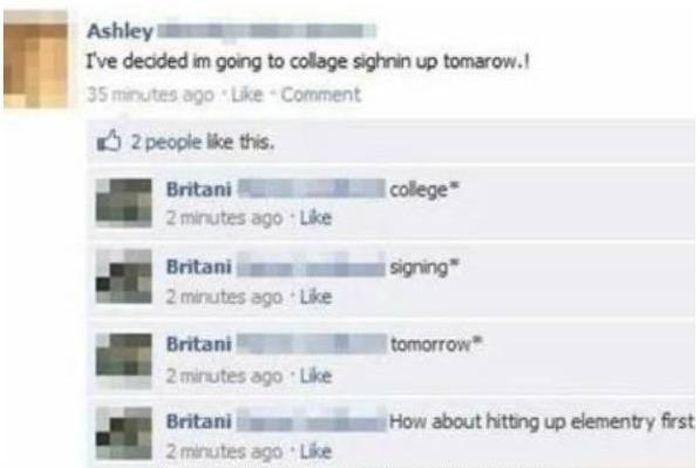 Dumb Things on Facebook, part 2