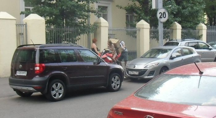 How to Transport Something Big on a Sport Bike