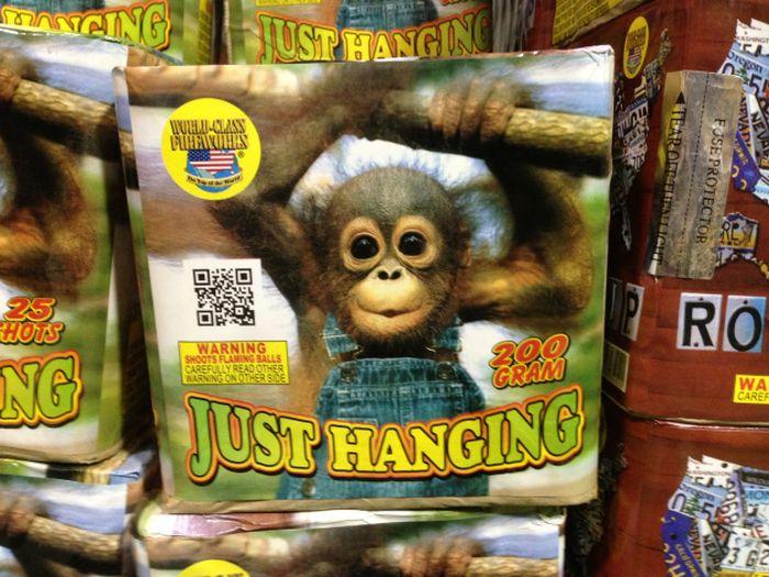 Strange and Funny Fireworks Packaging