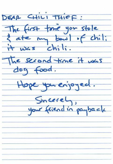 Angry Notes From Victims of Theft