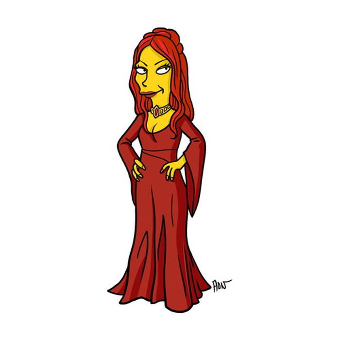 Simpsonized 'Game of Thrones' Characters