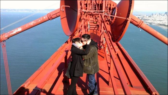 Proposal on the Top of the Golden Gate Bridge