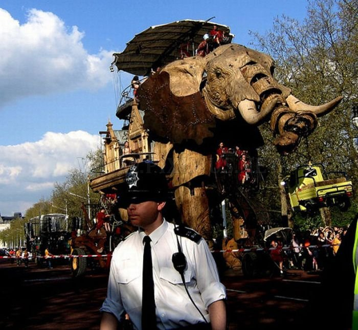 Huge Mechanical Elephant in the Streets of London