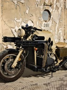Motorcycle with Two Guns