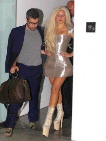 Shiny-Faced and Virtually Makeup-Free Lady Gaga